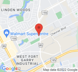 Google Map of 1461+Waverley+Street%2CWinnipeg%2CManitoba+R3T+0P7