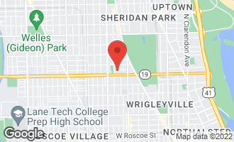 Map of 1463 West Cuyler Avenue #1 CHICAGO, IL 60613