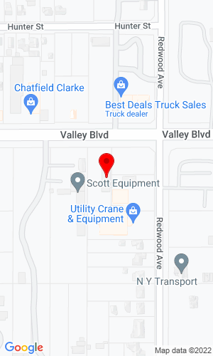 Google Map of SoCal JCB 14675 Valley Blvd, Fontana, CA, 92335