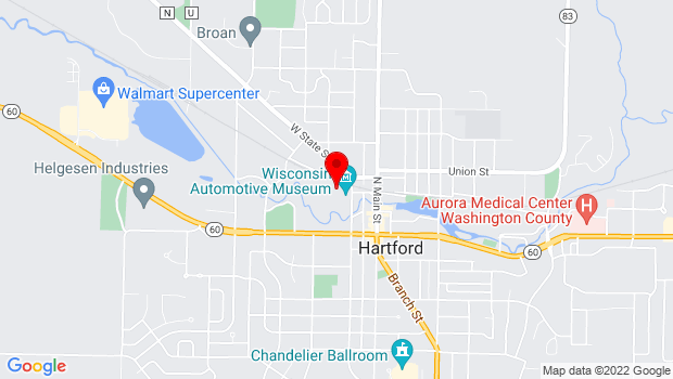Google Map of 147 N. Rural Street, Hartford, WI 53027