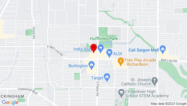 Google Map of 147 N. Plano Rd., Richardson, TX 75081