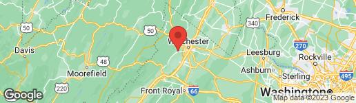 Map of 147 SCHOOLMARM LANE WINCHESTER, VA 22602