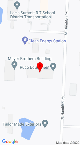 Google Map of Ruco Equipment Co. 1470 SE Hamblen Rd., Lee's Summit, MO, 64081