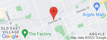 Google Map of 1470+Dundas+Street+East%2CLondon%2COntario+N5W+3B9