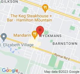 Google Map of 1471+Upper+James+Street%2CHamilton%2COntario+L9B+1K2