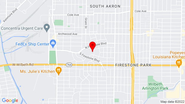 Google Map of 1480 Girard St., Akron, OH