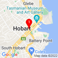 Map to Hobart location 149 Macquarie St
