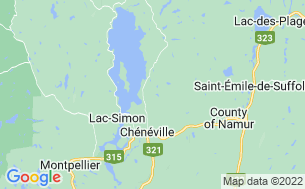 Map of Camping Haut-Des-Côtes