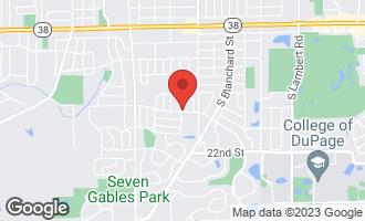 Map of 1497 Haverhill Drive A WHEATON, IL 60189