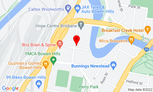 Google Map of 15 Thompson Street Bowen Hills QLD 4006