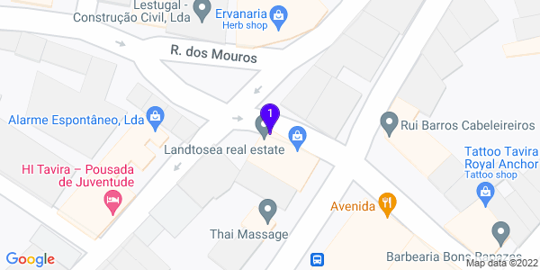 Google Map of 15 Travessa Zacarias Guerreiro 8800-740 Tavira,