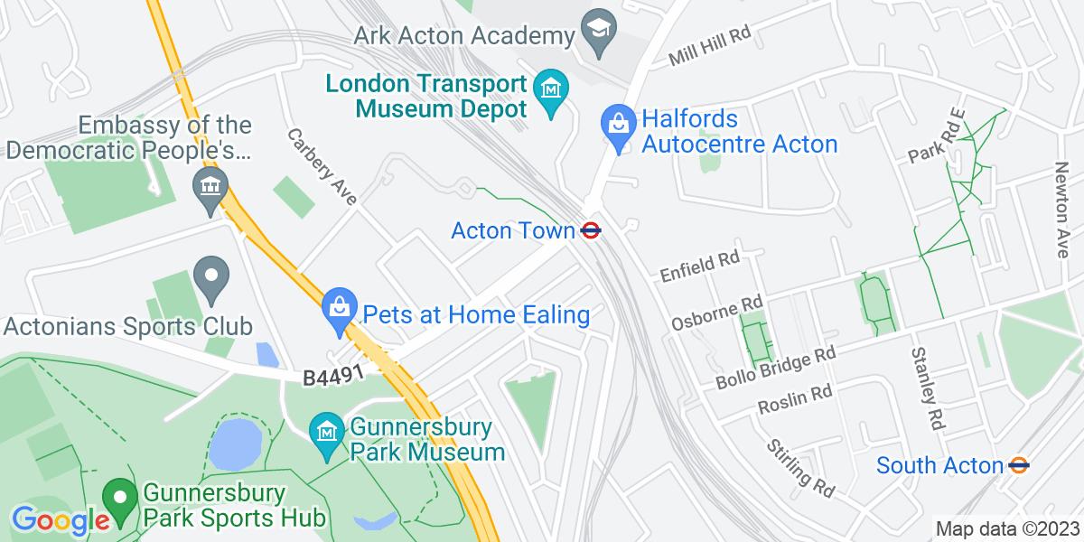 Google Map of 15-16 The BroadwayGunnersbury Lane London W3 8HR