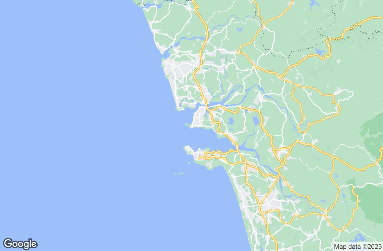 Google Map of Dona Paula
