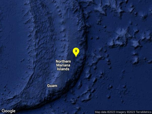 earthquake 137km ENE of Saipan, Northern Mariana Islands