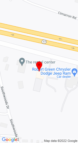 Google Map of Rental Center, The 150 Bridgeville Rd, Monticello, NY, 12701