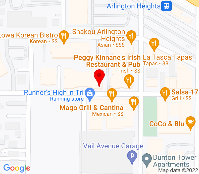 Click to view Google maps office address 150 W Campbell Street, Arlington Heights, IL 60005