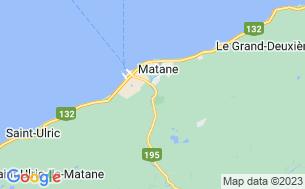 Map of Camping Rivière Matane