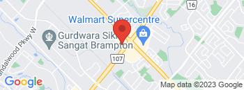 Google Map of 150+Bovaird+Dr+W%2CBrampton%2COntario+L7A+0H3