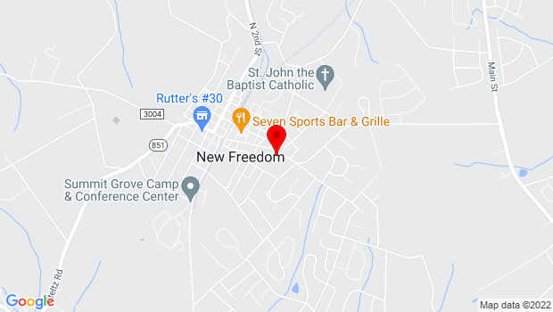 Google Map of 150 East Main St., New Freedom, PA 17349