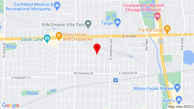 Google Map of 150 W Sunset Dr, Villa Park, IL 60181