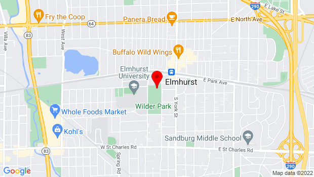 Google Map of 150 s cottage hill ave, Elmhurst, IL 60126