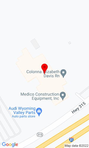 Google Map of Medico Construction Equipment Inc. 1500 Hwy 315, Wilkes Barre, PA, 18702