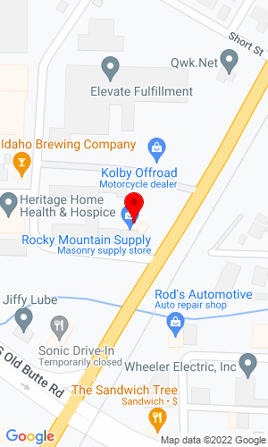 Google Map of Rocky Mountain Supply 1500 S. Yellowstone , Idaho Falls, ID, 83402
