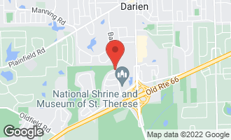 Map of 1500 Evergreen Lane DARIEN, IL 60561