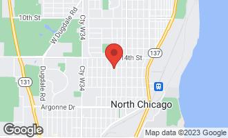 Map of 1503 Elizabeth Avenue NORTH CHICAGO, IL 60064