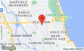 Map of 1503 North Cleveland Avenue #1 CHICAGO, IL 60610