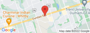 Google Map of 1505+Dundas+Street+East%2CWhitby%2COntario+L1N+2K6