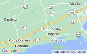 Map of Brighton KOA Holiday