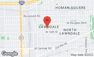 Map of 1506 South Kedvale Avenue CHICAGO, IL 60623