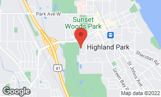 Map of 1507 Sunset Road Highland Park, IL 60035