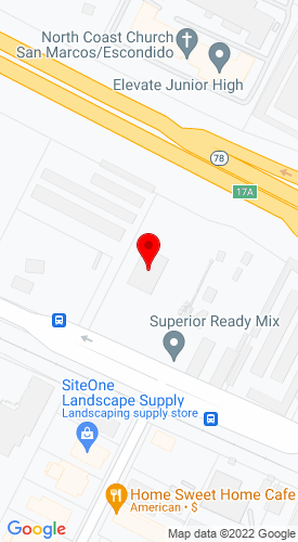 Google Map of Superior Equipment 1508 W. Mission Road+Escondido+CA+92029