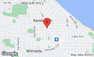 Map of 1508 Elmwood Avenue Wilmette, IL 60091