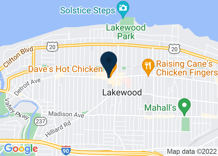 Map of 15105 Detroit Ave, Lakewood, OH 44107, United States