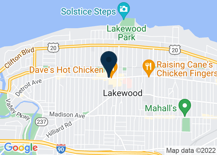 Map of 15118 Detroit Ave, Lakewood, OH 44107, United States
