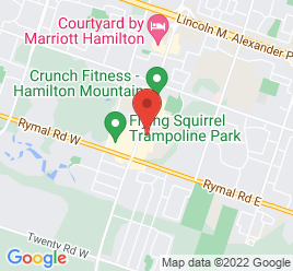 Google Map of 1515+Upper+James+Street%2CHamilton%2COntario+L9B+1K2