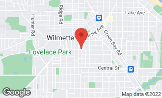 Map of 1516 Isabella Street WILMETTE, IL 60091