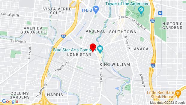Google Map of 1518 S Alamo, San Antonio, TX 78204