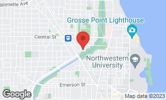 Map of 1519 Colfax Street EVANSTON, IL 60201