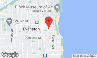 Map of 1519 Hinman Avenue 3N EVANSTON, IL 60201
