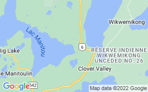 Map of Manitoulin Resort Ltd