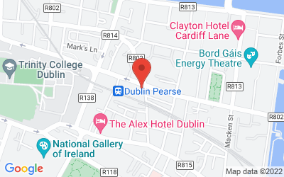 Map of Pearse St