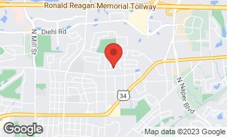 Map of 1521 Chippewa Drive NAPERVILLE, IL 60563