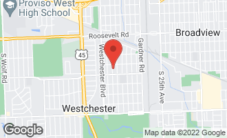 Map of 1525 Newcastle Avenue WESTCHESTER, IL 60154