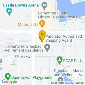 Map to Crown & Anchor Pub Edmonton provided by Google