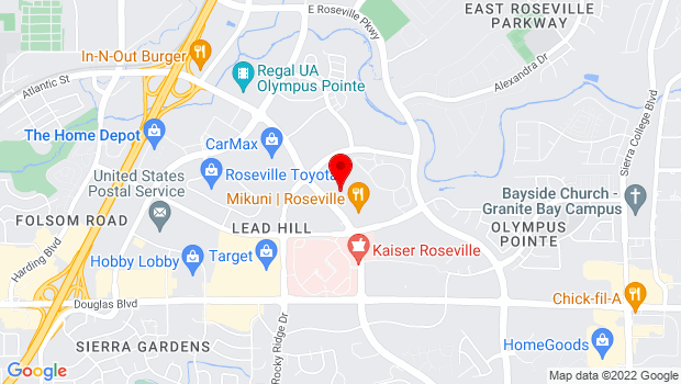 Google Map of 1529 Eureka Rd #110, Roseville, CA 95661