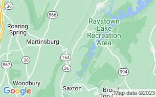 Map of Shy Beaver R.V. Park